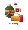camping tools or camp accessory icons vector image vector image