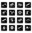 car repair parts icons set grunge vector image vector image
