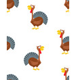 cartoon funny turkey pattern vector image vector image