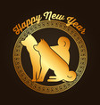 chinese happy new year of the dog calendar zodiac vector image