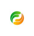 circle rotation balance technology logo vector image vector image