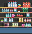 cleaner on a shelf in a supermarket vector image