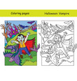 coloring with colored example halloween vampire vector image