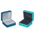concept of two gift boxes for ring or earrings vector image vector image