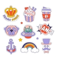 Cupcake Dog Rainbow And Others Bright Hipster vector image vector image