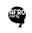curly afro hair portrait african women vector image vector image