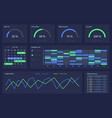 dashboard with infographic elements charts vector image vector image