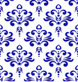 decorative pattern blue and white vector image vector image