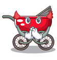 devil baby sitting in a baby stroller cartoon vector image vector image