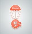 Discount parachute set vector image