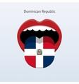 Dominican Republic language Abstract human tongue vector image