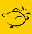 emoticon is proud with a crown on his side eps10 vector image vector image