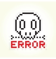 Error message skull vector image vector image