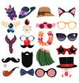 fashion accessories design elements vector image vector image