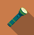 Flat design modern of flashlight icon camping and vector image vector image