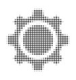gear wheel halftone dotted icon vector image