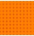 geometric seamless orange simple pattern vector image vector image