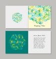 greeting cards design flower of life vector image vector image