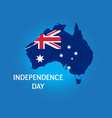 happy independence day australia greeting card vector image vector image