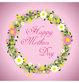 happy mothers day floral vector image vector image