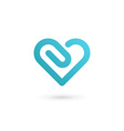 Heart symbol clip logo icon design template May be vector image vector image