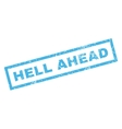 Hell Ahead Rubber Stamp vector image vector image