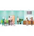 hospital waiting room clinic lobby reception and vector image