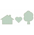 House heart and nature Cute Baby Style vector image