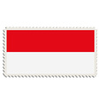 Indonesian flag post vector image vector image