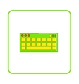 Keyboard icon simple style vector image vector image