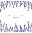 Lavender Card Border vector image vector image