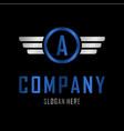letter a automotive creative business logo vector image vector image