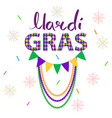 magri gras carnival concept with garlands vector image
