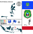 Map of North Maluku vector image vector image