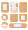 medical plaster helthcare bandage tape path vector image