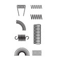 metal spring set spiral coil flexible icon wire vector image vector image