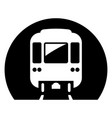 metro icon underground electric railway city vector image vector image