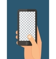Mobile template vector image vector image