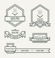 paper Label And Ribbon template vector image vector image