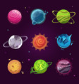 planet icons for game design vector image