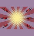 pop art rays lightning background vector image