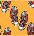 red and blue shoes vector image vector image