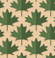 Retro fold deep green maple leaves vector image vector image