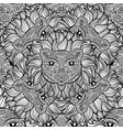 seamless pattern with a lion heads on a white vector image vector image