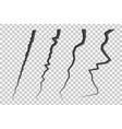 set cracked lines vector image