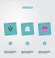 set of engagement icons flat style symbols with vector image