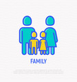 silhouette of family man woman and two children vector image vector image