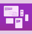 simple mockups notebook tablet phone vector image