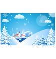 Ski Resort Background vector image vector image