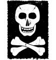 skull and cross-bones vector image vector image